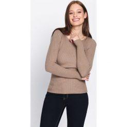 Jasnobrązowy Sweter At The Start. Brązowe swetry klasyczne damskie marki Born2be, s. Za 39,99 zł.