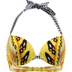 """Biustonosz bikini """"Cavalaire"""" w kolorze żółto-czarno-białym. Żółte biustonosze z fiszbinami marki NABAIJI. W wyprzedaży za 165,95 zł."""