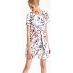 Sukienki: SUKIENKA DAMSKA W KWIATY, Z NADRUKIEM