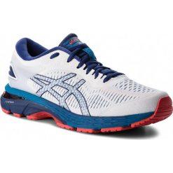 Buty ASICS - Gel-Kayano 25 1011A019 White/Blue Print 100. Białe buty do biegania męskie Asics, z materiału, asics gel kayano. W wyprzedaży za 529,00 zł.
