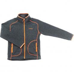 """Kurtka polarowa """"Skogstad"""" w kolorze antracytowo-pomarańczowym. Brązowe kurtki chłopięce marki Hulabalu, z polaru. W wyprzedaży za 115,95 zł."""