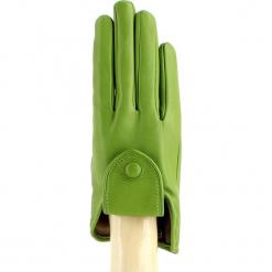 Skórzane rękawiczki w kolorze zielonym. Zielone rękawiczki damskie Vicente Milano, z materiału. W wyprzedaży za 269,95 zł.