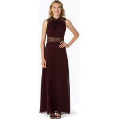 VM - Damska sukienka wieczorowa, czerwony. Czerwone sukienki boho VM, w koronkowe wzory, z koronki, z dekoltem na plecach. Za 949,95 zł.