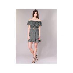 Sukienki krótkie Morgan  RIMINA. Szare sukienki mini marki Morgan, z krótkim rękawem. Za 311,20 zł.