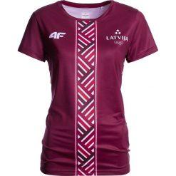 T-shirty damskie: Koszulka funkcyjna damska Łotwa Pyeongchang 2018 TSDF800 – bordowy