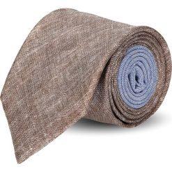 Krawaty męskie: krawat winman brąz classic 202
