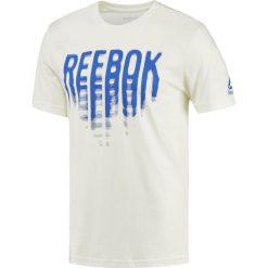 Reebok Koszulka męska Vibes biała r. M (BQ8334). Pomarańczowe koszulki sportowe męskie marki Reebok, z dzianiny, sportowe. Za 69,90 zł.