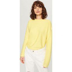 Sweter - Żółty. Żółte swetry klasyczne męskie Reserved, l. Za 99,99 zł.