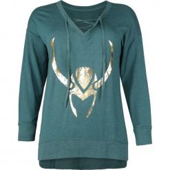 Thor Her Universe - Loki - Goldener Helm Sweter damski petrol melanż. Szare swetry oversize damskie Thor, l. Za 164,90 zł.