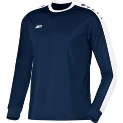 Koszulki sportowe męskie: Jako Striker długi rękaw Koszulka – mężczyźni – granatowy / biały _ s
