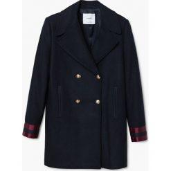 Mango - Płaszcz Militar. Czarne płaszcze damskie wełniane marki Mango, l, klasyczne. Za 399,90 zł.