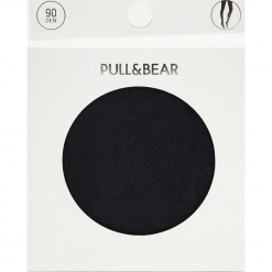 Rajstopy basic 90 DEN. Zielone pończochy i rajstopy marki Pull&Bear. Za 29,90 zł.