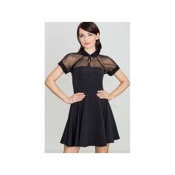 Sukienka K399 Czarny. Czarne sukienki balowe Lenitif, m, z krótkim rękawem, mini. Za 149,00 zł.