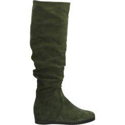 Kozaki - S161 CAM VERD. Szare buty zimowe damskie marki Venezia, ze skóry. Za 319,00 zł.