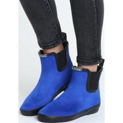 Kobaltowe Kalosze To The Seaside. Niebieskie kalosze damskie marki RYWAN/EMTEX, z bawełny. Za 99,99 zł.