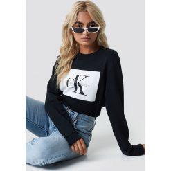 Calvin Klein Bluza Hebe True Icon - Black. Czarne bluzy rozpinane damskie Calvin Klein, z dzianiny. Za 404,95 zł.