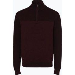 Nils Sundström - Sweter męski, czerwony. Szare swetry klasyczne męskie marki Recman, m, z kołnierzem typu troyer. Za 179,95 zł.