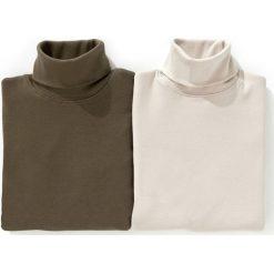 Cienki golf 3-12 lat (zestaw 2 sztuki). Szare t-shirty chłopięce polo La Redoute Collections, z bawełny, z długim rękawem. Za 46,37 zł.