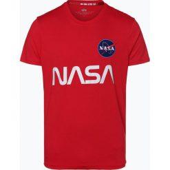 Alpha Industries - T-shirt męski, czerwony. Czarne t-shirty męskie z nadrukiem marki Alpha Industries, m. Za 129,95 zł.