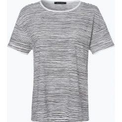 Marc O'Polo - T-shirt damski, czarny. Czarne t-shirty damskie Marc O'Polo, xl, w paski, z bawełny, polo. Za 139,95 zł.