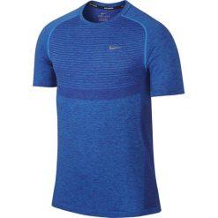 T-shirty męskie: koszulka do biegania męska NIKE DRI-FIT KNIT SHORT SLEEVE / 717758-458 – koszulka do biegania męska NIKE DRI-FIT KNIT SHORT SLEEVE