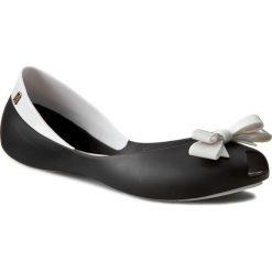 Baleriny damskie lakierowane: Baleriny MELISSA – Queen Ad 31335 Black/White 50215