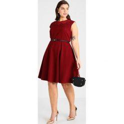 Sukienki hiszpanki: City Chic DRESS FLOWER Sukienka z dżerseju ruby