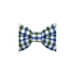 Muchy męskie: Mucha gotowa bowstyle Granatowa kratka