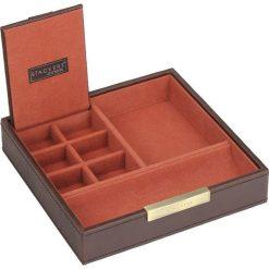 Pudełko na spinki i zegarki Stackers pojedyncze brązowo-pomarańczowe. Brązowe zegarki męskie marki Stackers. Za 146,00 zł.