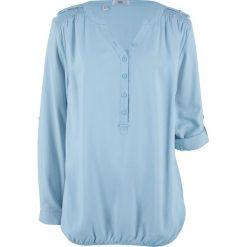 Bluzki damskie: Bluzka, długi rękaw bonprix pudrowy niebieski