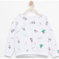 Bluzy dziewczęce: Bluza z nadrukiem kaktusów - Biały
