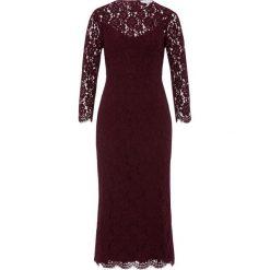 IVY & OAK Długa sukienka merlot. Czerwone długie sukienki IVY & OAK, z bawełny, z długim rękawem. W wyprzedaży za 467,35 zł.