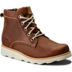 Trzewiki CLARKS - Dexy Top Jnr 261301496 Brown Leather. Brązowe kozaki damskie skórzane Clarks. W wyprzedaży za 199,00 zł.