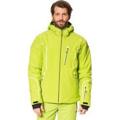 Kurtka narciarska w kolorze jasnozielonym. Zielone kurtki męskie bomber CMP, m, z materiału, narciarskie. W wyprzedaży za 413,95 zł.
