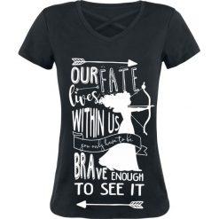 Merida Our Fate Koszulka damska czarny. Czarne bluzki z odkrytymi ramionami Merida, xl, z nadrukiem. Za 99,90 zł.