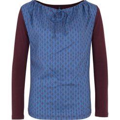 """Bluzki asymetryczne: Koszulka """"Kaja"""" w kolorze ciemnofioletowo-niebieskim"""