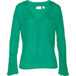 Bluzka bonprix szmaragdowy. Zielone bluzki damskie bonprix, z długim rękawem. Za 89,99 zł.