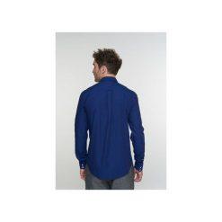 Koszula Proper D797/36M. Niebieskie koszule męskie na spinki Delikatessen, l, z bawełny, z dekoltem na plecach. Za 400,00 zł.