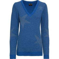 Swetry klasyczne damskie: Sweter bonprix niebieski