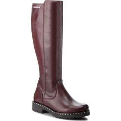 Oficerki EVA MINGE - Aldaya 4AW 18SM1372552EF 134. Czerwone buty zimowe damskie Eva Minge, ze skóry ekologicznej, przed kolano, na wysokim obcasie. W wyprzedaży za 449,00 zł.