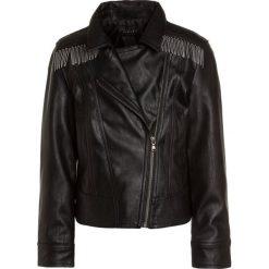 Sisley Kurtka ze skóry ekologicznej black. Czarne kurtki dziewczęce Sisley, z materiału. W wyprzedaży za 233,10 zł.