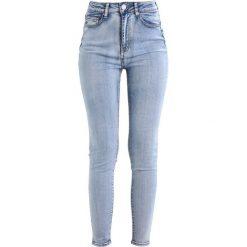 Lost Ink SUPER HIGH WAIST SKINNY CASPIA Jeans Skinny Fit blue. Niebieskie boyfriendy damskie Lost Ink, z podwyższonym stanem. Za 179,00 zł.