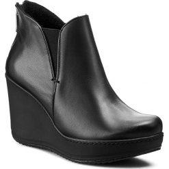 Botki KARINO - 0977/076-F Czarny Lico. Fioletowe buty zimowe damskie marki Karino, ze skóry. W wyprzedaży za 209,00 zł.