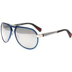 """Okulary przeciwsłoneczne męskie: Okulary męskie """"Octans"""" w kolorze niebiesko-srebrnym"""