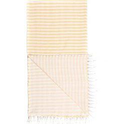 Kąpielówki męskie: Chusta hammam w kolorze żółto-białym – 180 x 100 cm