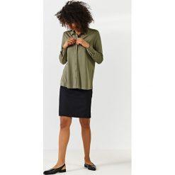 Simple - Spódnica. Szare minispódniczki Simple, z bawełny, ołówkowe. W wyprzedaży za 239,90 zł.