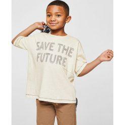 Odzież dziecięca: Mango Kids – T-shirt dziecięcy Save 104-164 cm