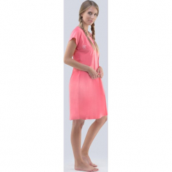 Koszula nocna Make a Wish. Różowe koszule nocne i halki marki Astratex, z bawełny. Za 69,99 zł.