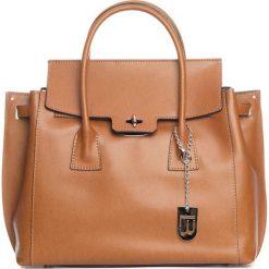 Torebki klasyczne damskie: Skórzana torebka w kolorze brązowym – 35 x 30 x 14 cm