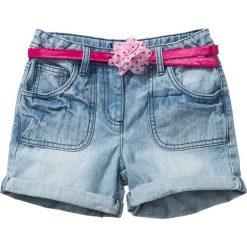 """Odzież dziecięca: Spodenki dżinsowe z paskiem bonprix jasnoniebieski """"bleached"""""""